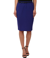 Calvin Klein - Solid Belted Skirt