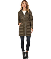 Cole Haan - Chevron Quilted Hooded Single Breasted Lightweight Packable Down