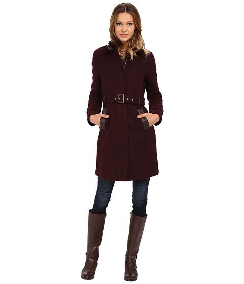 Cole Haan Zip Front Stand Collar Coat