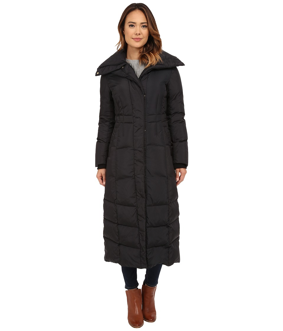 Cole Haan Down Coat with Oversized Collar (Black) Women