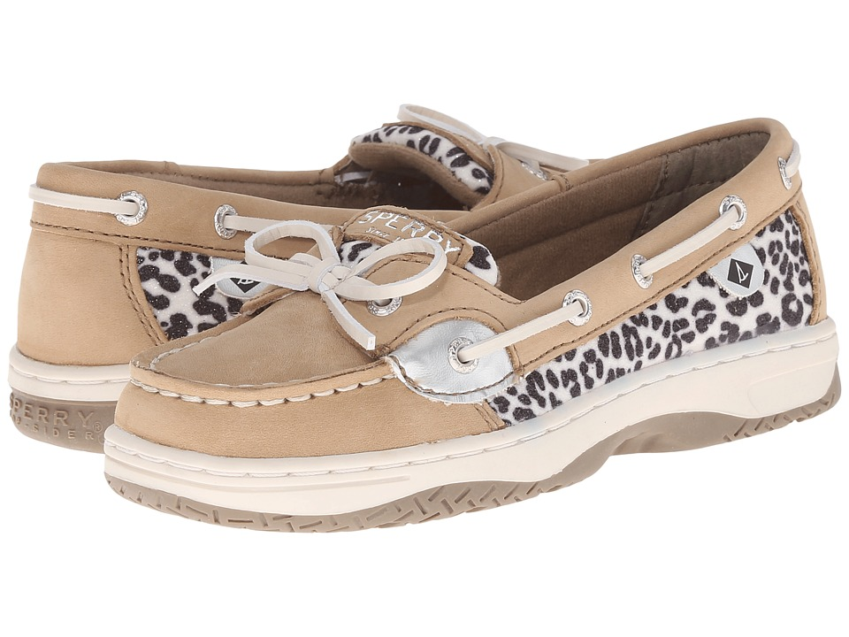 Sperry Top Sider Kids Angelfish Little Kid/Big Kid Linen/Snow Leopard Girls Shoes