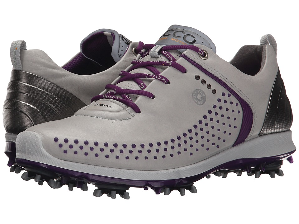 ECCO Golf BIOM G 2 Concrete/Imperial Purple Womens Golf Shoes