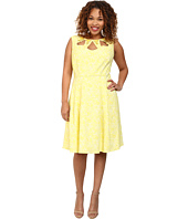 Adrianna Papell - Plus Size Cutout and Embellished Neckline Fit & Flare Dress