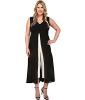 Adrianna Papell - Plus Size Color Blocked Overlay Jumpsuit
