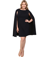 Adrianna Papell - Plus Size Structured Cape Sheath Dress