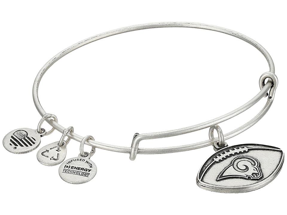 Alex And Ani NFL Los Angeles Rams Football Bangle (Rafaelian Silver) Charms Bracelet