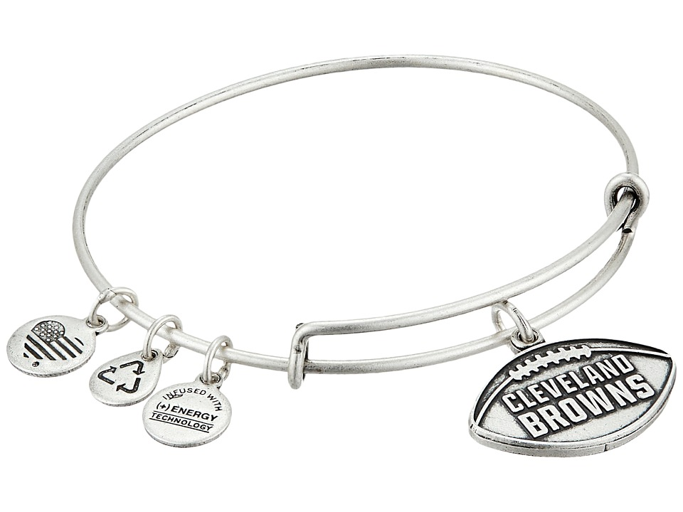Alex and Ani - NFL Cleveland Browns Football Bangle (Rafaelian Silver) Charms Bracelet