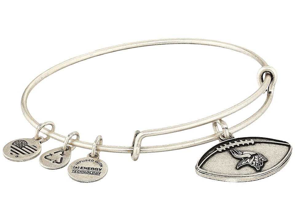 Alex and Ani - NFL Minnesota Vikings Football Bangle (Rafaelian Silver) Charms Bracelet