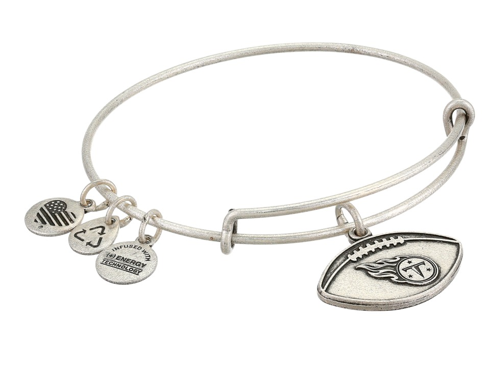 Alex and Ani - NFL Tennessee Titans Football Bangle (Rafaelian Silver) Charms Bracelet