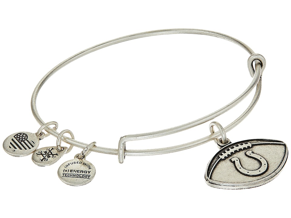 Alex and Ani - NFL Indianapolis Colts Football Bangle (Rafaelian Silver) Charms Bracelet