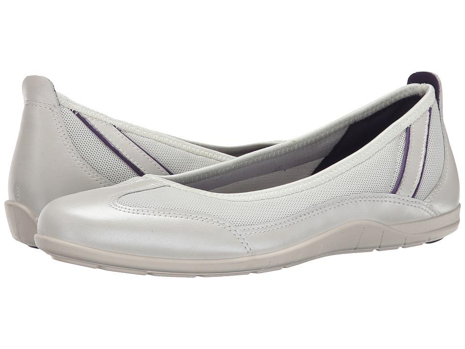 ECCO Bluma Summer Ballerina White/Shadow White/Crown Jewel Womens Shoes