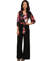 Adrianna Papell - Gathered Sleeve Tie Waist Jumpsuit