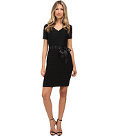 Adrianna Papell - Illusion Lace Top Banded Dress