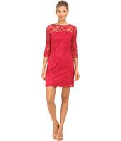 Adrianna Papell - Flounce Sleeve Shift Dress