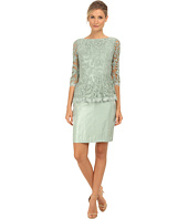 Adrianna Papell - Floral Embroidery Peplum Dress