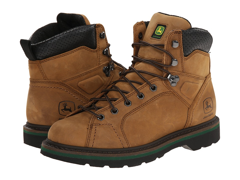 John Deere - 6 Lace-To-Toe Boot (Buck) Mens Work Boots