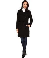 Kenneth Cole New York - Asymmetrical Button Front Wool Coat