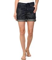 DKNY Jeans - Tiki Print Bleecker Boyfriend Rolled Shorts in Indigo