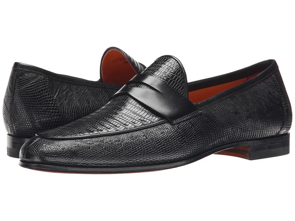 Magnanni Camerino Black Mens Slip on Dress Shoes