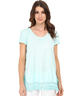 DKNY Jeans - Crisscross Back Lace Trim Top