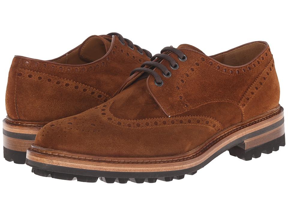 Magnanni Berto Cognac Mens Lace Up Wing Tip Shoes