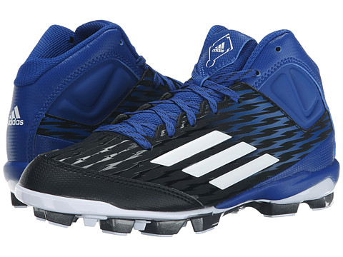 adidas Kids PowerAlley 3 TPU Mid Baseball (Little Kid/Big Kid)