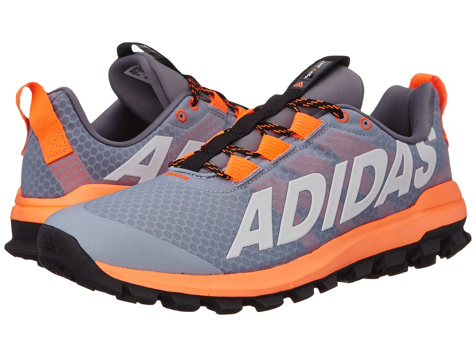 adidas Running Vigor 6 TR Light Grey/White/Solar Orange Mens Running Shoes