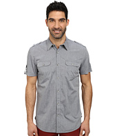 DKNY Jeans - Short Sleeve Two-Pocket Military Chambray Shirt