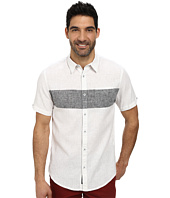 DKNY Jeans - Short Sleeve Linen/Cotton Chest Stripe Shirt - Casual Wash