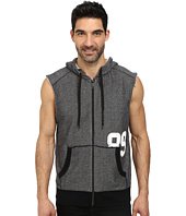 DKNY Jeans - Loose Knit French Terry Sleeveless Full Zip Hoodie