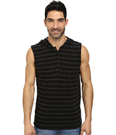 DKNY Jeans - Plaited Stripe Sleeveless Hooded Henley