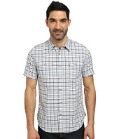 DKNY Jeans - Short Sleeve Cotton/Linen Check Shirt - Casual Wash