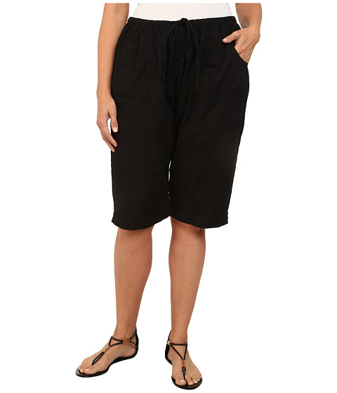 Fresh Produce - Plus Size Park Ave Pedal Pusher (Black) Women's Shorts