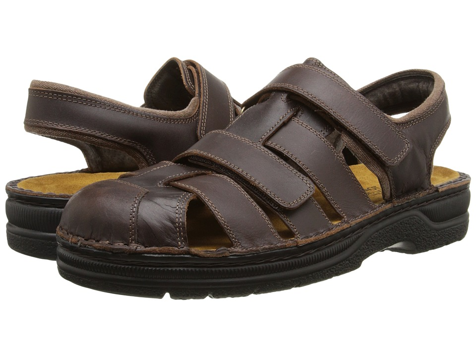 Naot Footwear Bradley Buffalo Leather Mens Dress Sandals