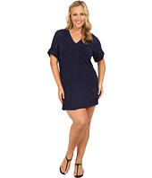 Tommy Bahama - Plus Size V-Neck Tab Sweater Cover-Up