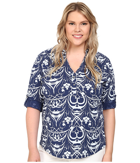 Fresh Produce Circle Coast 3/4 Sleeve Coffee House Tee (Luna Turquoise) Women's T Shirt