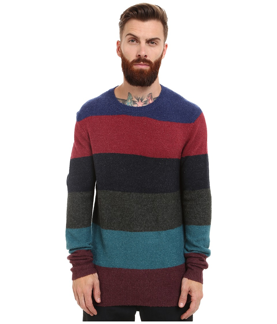 French Connection - Felted Stripe Knits (Blue Depths/Rhododendron) Men