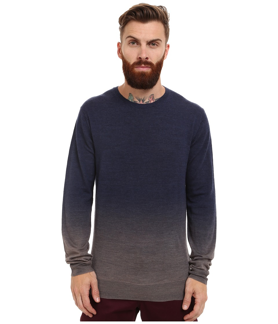 French Connection - Dip Dye Aston Knits (Marine Blue/Alloy) Men