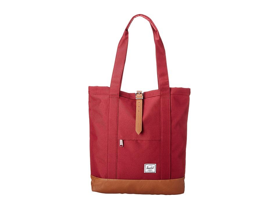 Herschel Supply Co. - Market (Windsor Wine) Tote Handbags