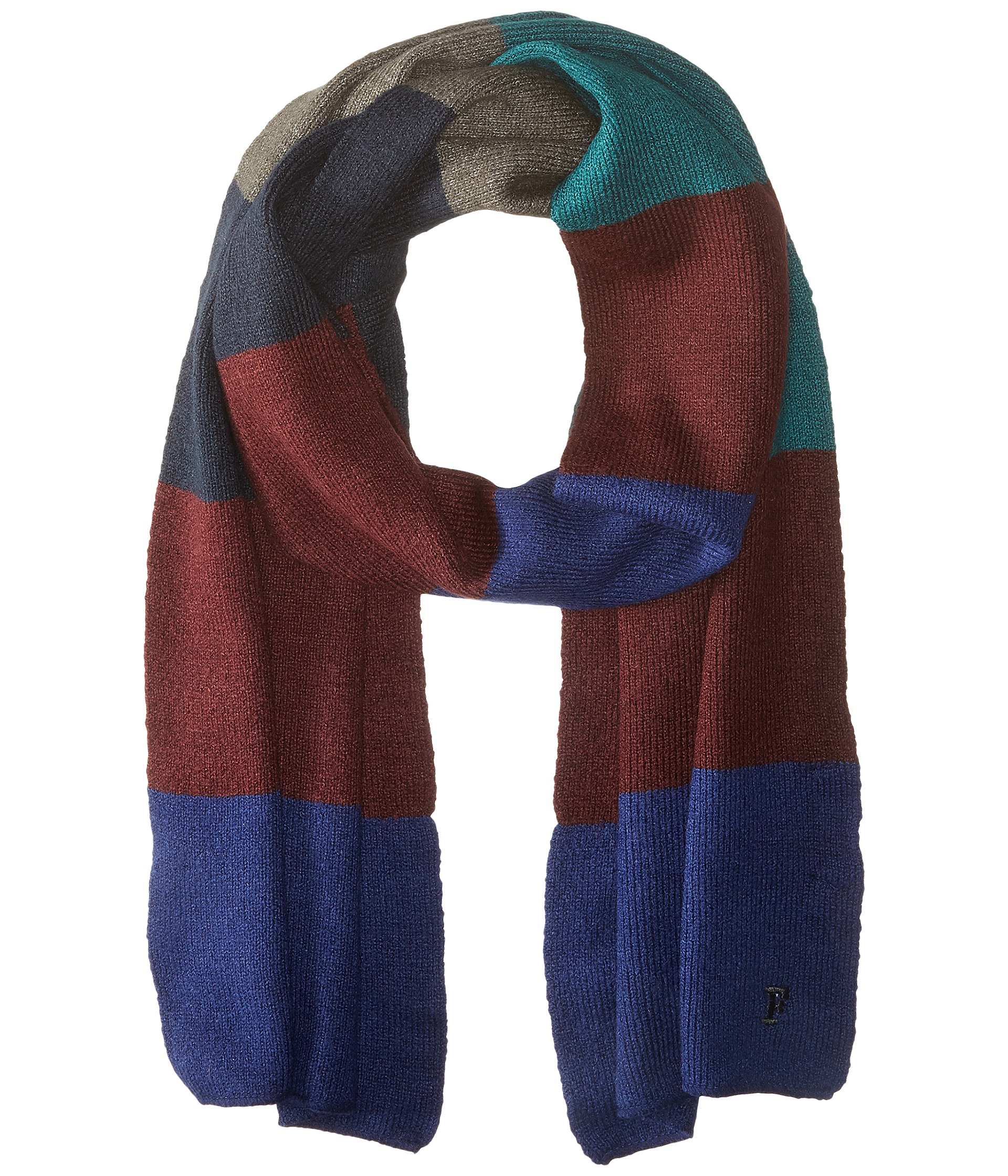 French Knitting Scarf : French connection best felted knit scarf blue depths