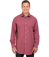 Thomas Dean & Co. - Long Sleeve Woven Modern Check w/ Dobby