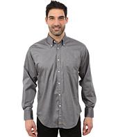 Thomas Dean & Co. - Long Sleeve Woven Button Down Collar Mini Herringbone