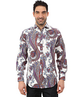 Thomas Dean & Co. - Long Sleeve Woven Paisley Print