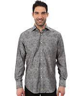 Thomas Dean & Co. - Long Sleeve Woven Jacquard Pattern Plaid