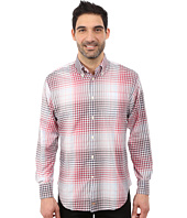 Thomas Dean & Co. - Long Sleeve Woven Button Down Collar Ombre Plaid