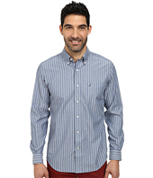 Nautica - Long Sleeve Wrinkle Risistant Stripe