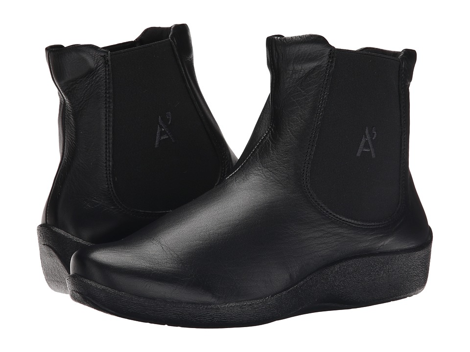 Arcopedico Chelsea D Black Womens Pull on Boots