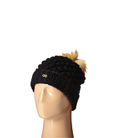 Cole Haan - Popcorn Stitch Handknit Faux Fur Pom Hat
