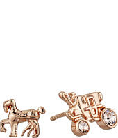 COACH - Pave Horse and Carriage Stud Earrings