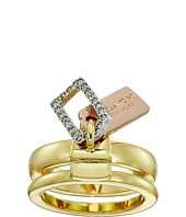 COACH - Pave Mixed Tags Stacked Ring